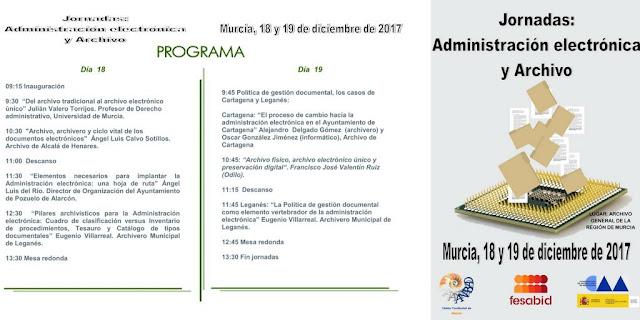 """Jornadas: """"Administración electrónica y archivo""""."""