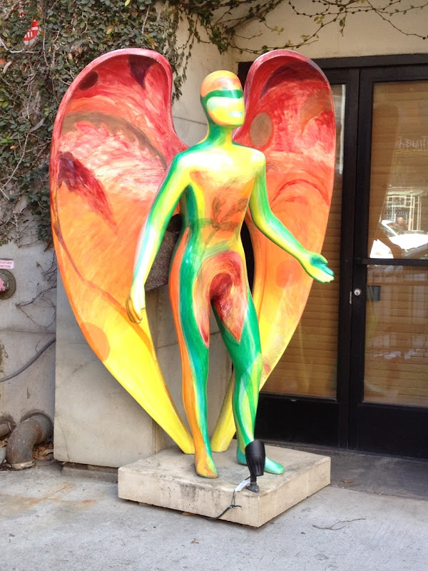 Exotic Angel sculpture Michael Falzone