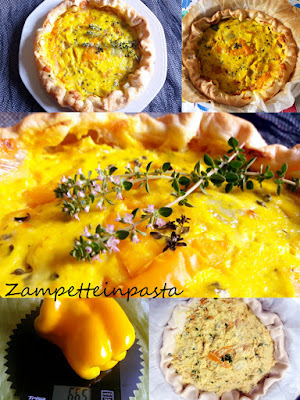 Torta salata con peperoni e ricotta (senza uova)
