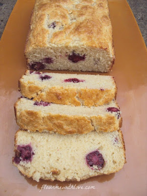 Blackberry Sour Cream Quick Bread