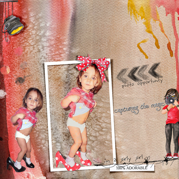 scrapbooking digital clindoeildesign clin d'oeil design Dawn Inskip Once upon a time collection
