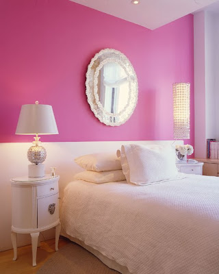 I Love Pink Walls And All White Furniture Accessories