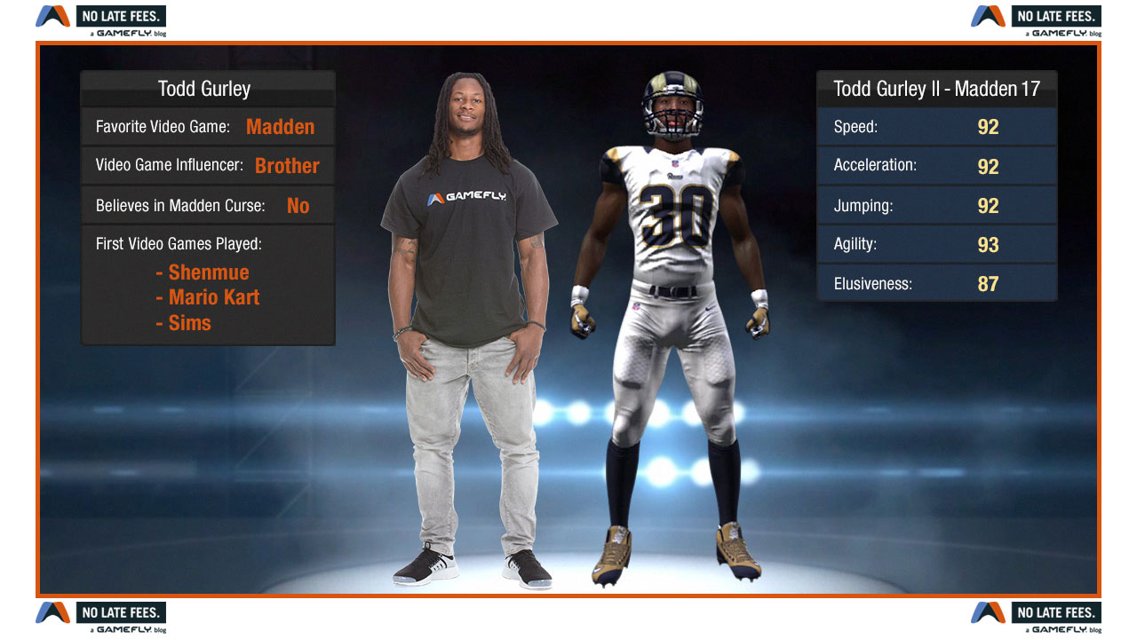 Todd Gurley talks NFL Gamers