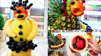 Fun Food Art For Kids | Fruit & Vegetable Carving Garnish | Food Decoration | Party Garnishing