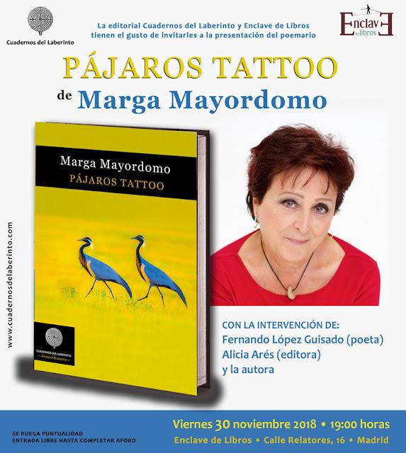 Marga Mayordomo. Pájaros tattoo