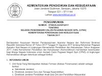 Resmi Dibuka Penerimaan CPNS Kemendikbud 5 September 2017