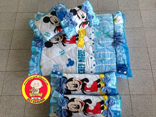 Promosi Set Tilam Baby (design mickey biru)