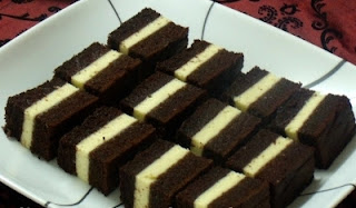 Resepi : Kek Coklat Lapis Cheese Kukus