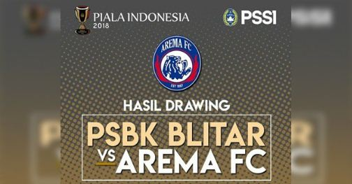 Jadwal PSBK Blitar vs Arema FC Rabu 9 Mei 2018 - Piala Indonesia