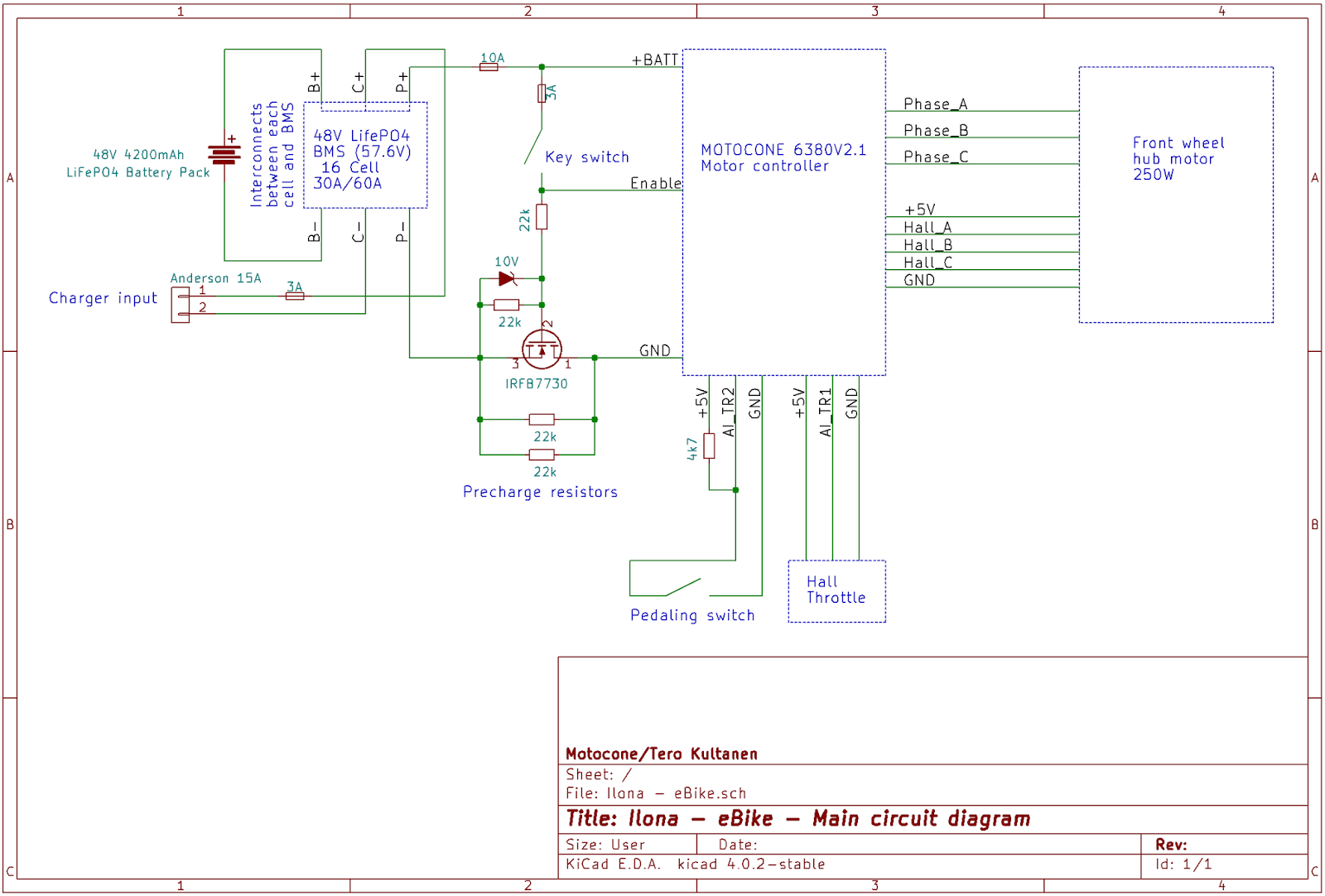 Bms Wiring Diagram Ebike Diagrams For Sony Car Audio Ilona Part 1 The Electric Machine S Circuit Is Shown Below Irfb7730 And Other Components Around It Work As A Precharge Capacitors Of Motor