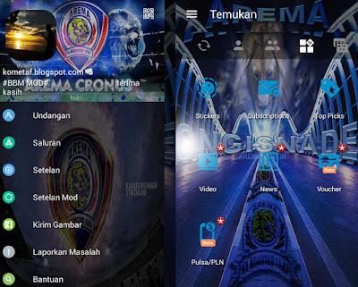 BBM MOD Arema Cronus v.3.0.1.25 Pro APK Gratis Sticker
