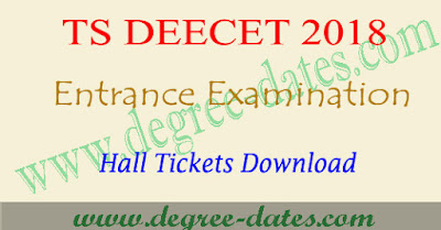 TS Deecet hall ticket download 2018 dietcet exam date telangana