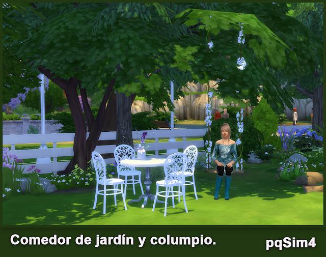 Comedor de jard n y columpio sims 4 custom content - Columpio de jardin ...