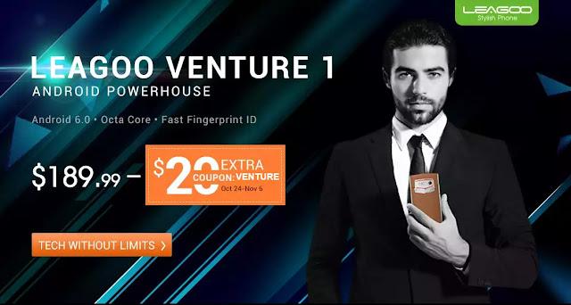 【新製品情報】牛革を贅沢に使用したスタイリッシュなスマートフォン。Leagoo Venture 1が169ドルで登場。