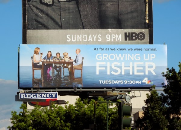 Growing Up Fisher NBC billboard