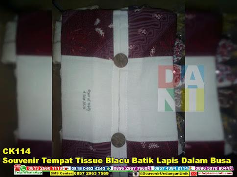jual Souvenir Tempat Tissue Blacu Batik Lapis Dalam Busa