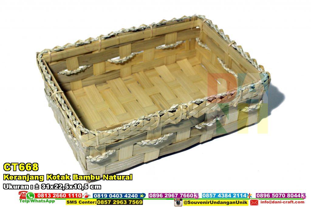 Keranjang Kotak Bambu Natural | Souvenir Pernikahan