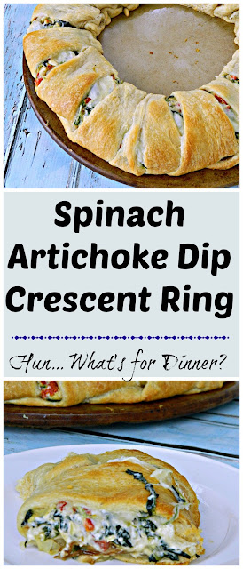Spinach Artichoke Dip Crescent Ring pinnable