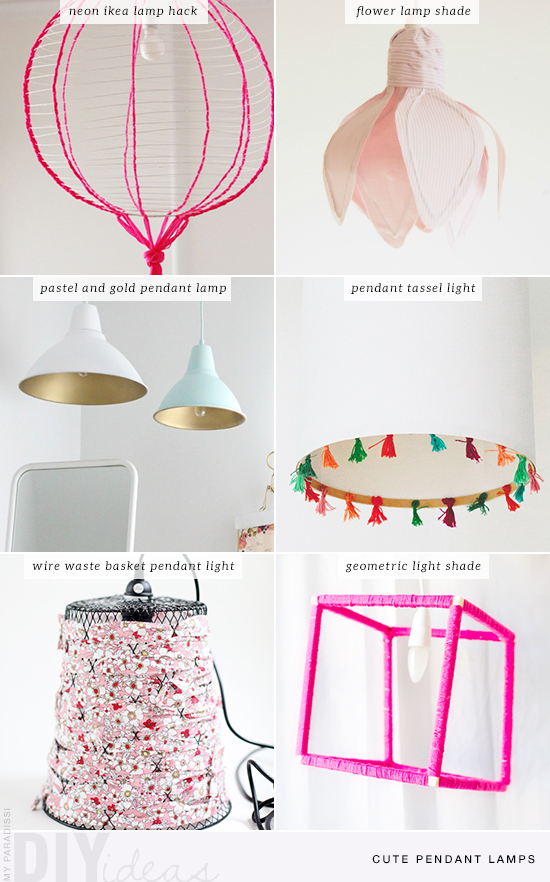 DIY: Cute pendant lamps | My Paradissi