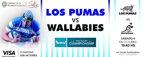 Venta de entradas para Los Pumas - Wallabies en Salta #PersonalRugbyChampionship