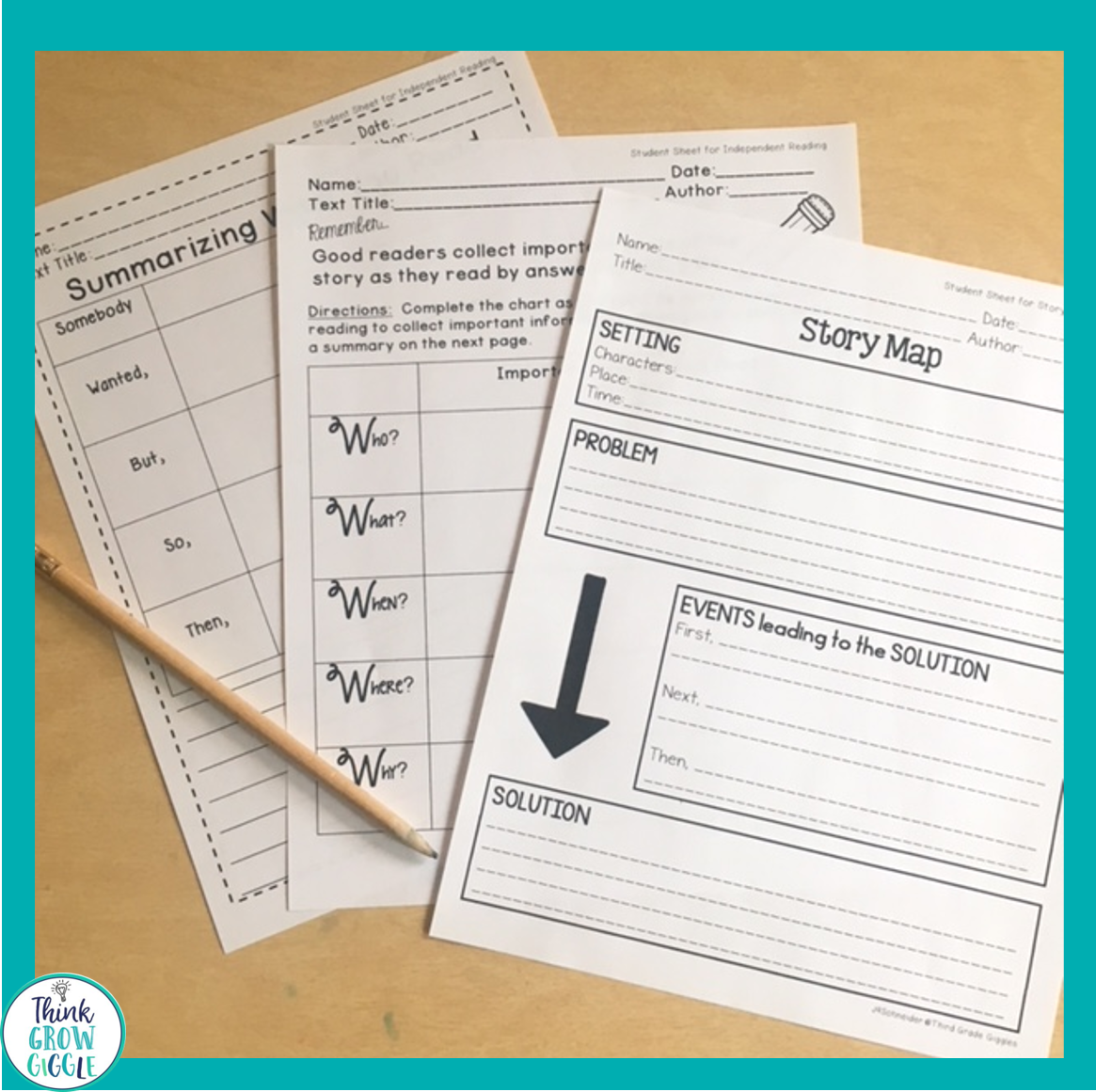 hight resolution of 4 Ways to Help Students Successfully Summarize - Think Grow Giggle