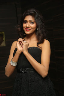 Shalu Chourasiya in spicy Sleeveless Strapless Black Top at O Pilla Nee Valla Movie Audio Launch Feb 2017 127.JPG