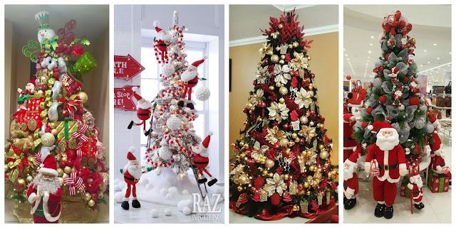 decoración-navideña-en-rojo-arboles-navideños