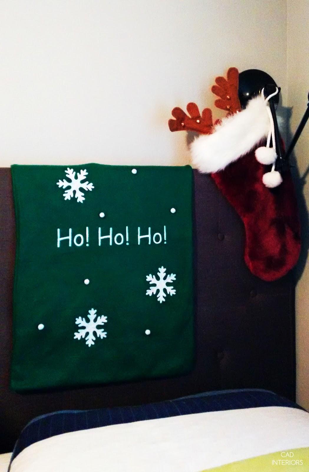 CAD INTERIORS holiday home 2015 Christmas holiday decorating kids bedroom ho ho ho
