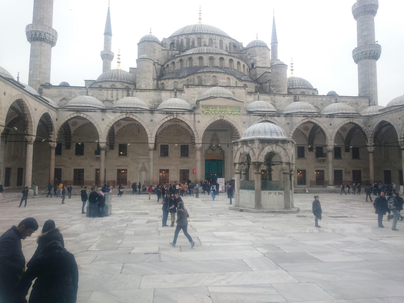 sultanahmet camii avlu fotoğrafı