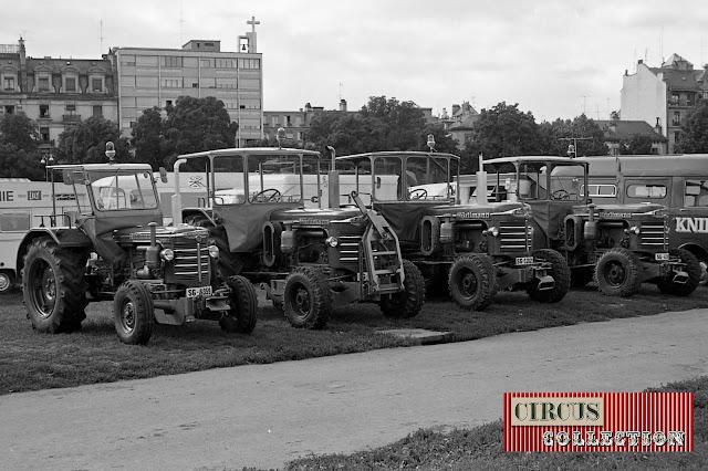 Tracteurs Hurliman duCirque National Suisse Knie  1970