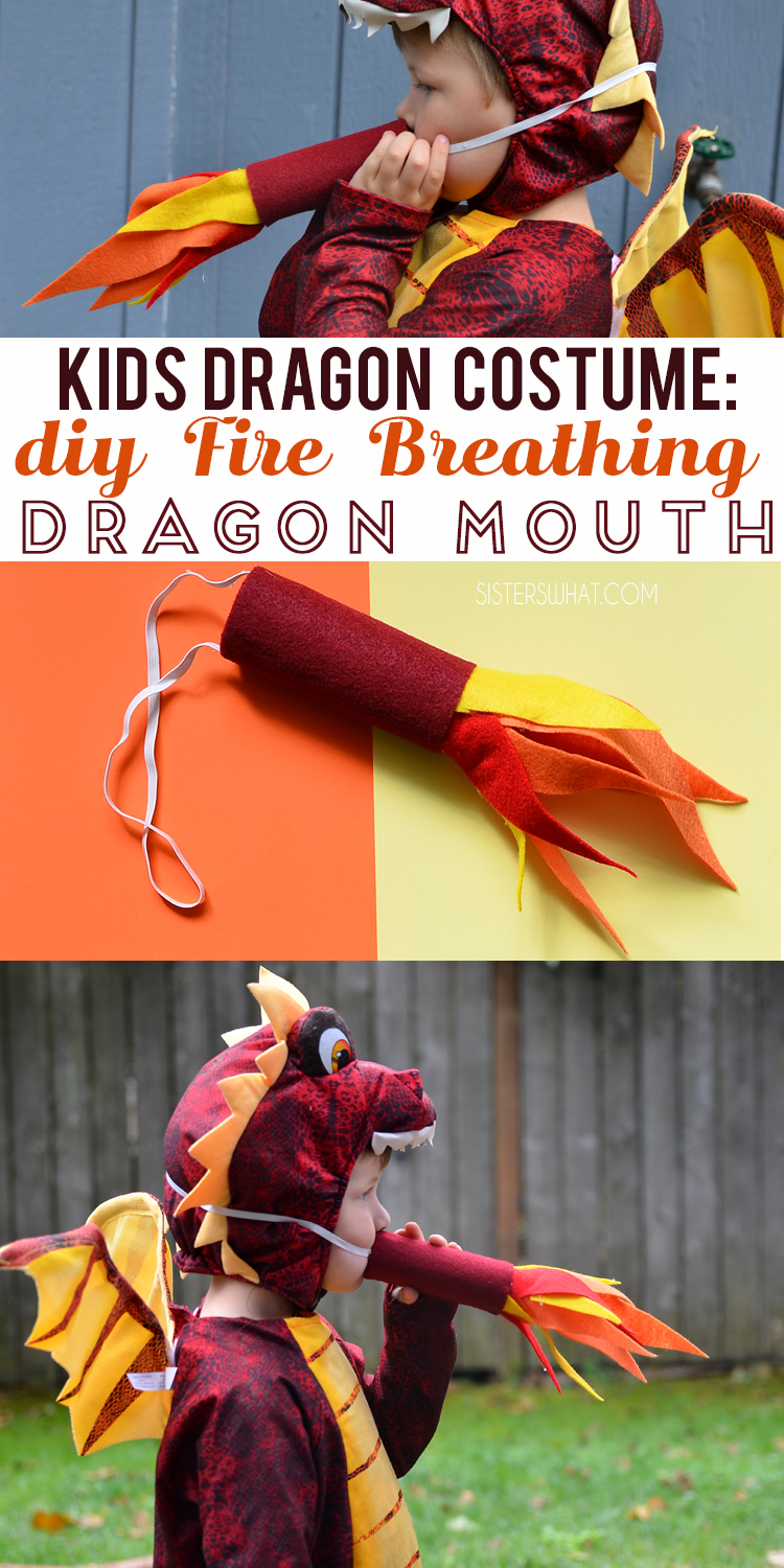 Kids Dragon Costume DIY Fire Breath Dragon Mouth