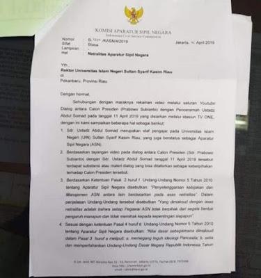 Heboh Surat Pemberhentian, Rektor UIN Suska: Ustaz Somad Tak Akan Dipecat