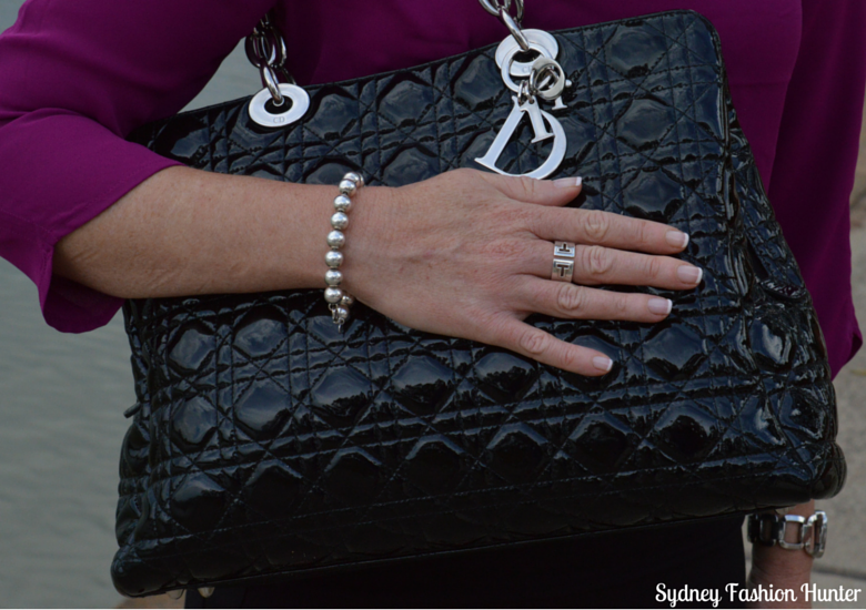 Sydney Fashion Hunter - Fresh Fashion Forum #4 - Black Patent Dior Tote, Tiffany & Co Bead Bracelet, Tiffany & Co T Cut Out Ring, Gucci G Watch
