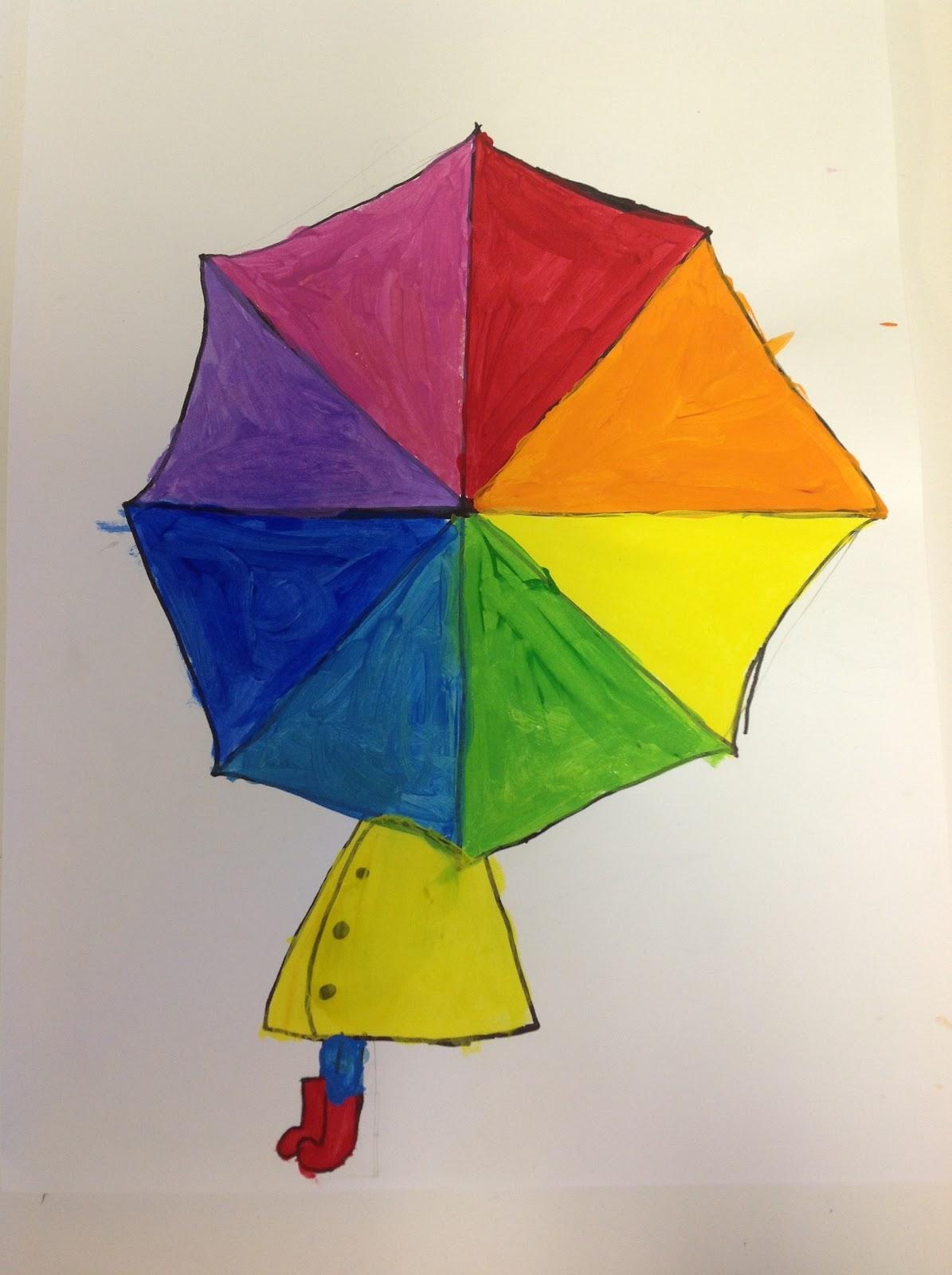 Color It Like You Mean It Color Wheel Umbrellas