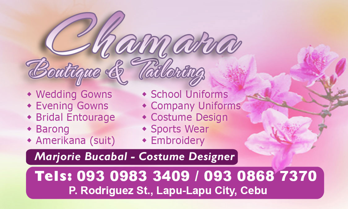 Chamara Boutique: Business Cards for Marjorie