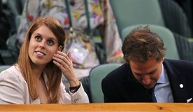 Sabine Lisicki with her boyfriend