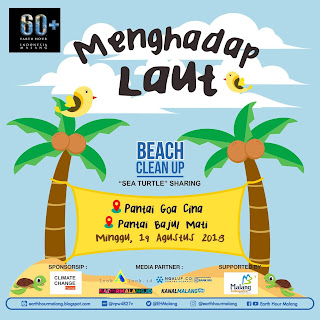 Aksi Bersih Pantai di Malang