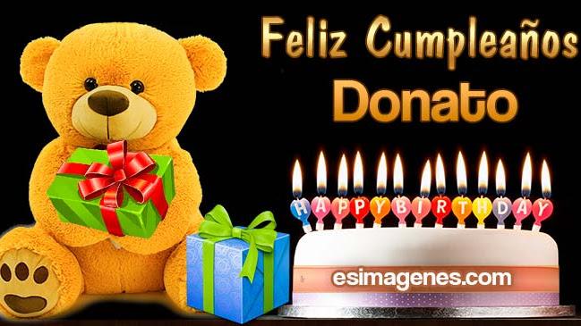 Feliz cumpleaños Donato