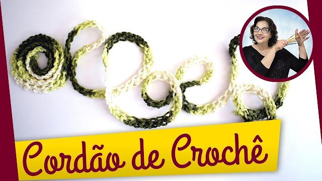 COMO FAZER LINDO CORDÃO DE CROCHÊ - PASSO A PASSO CANHOTOS E DESTROS NO CURSO DE CROCHE COM EDINIR CROCHE