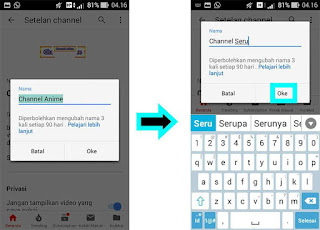 Tips dan Trik Mengganti Nama Channel Youtube di Android