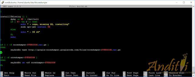 Cara Mengatasi Error coredumper-1.2.1.tar.gz Not Found-anditii.web.id