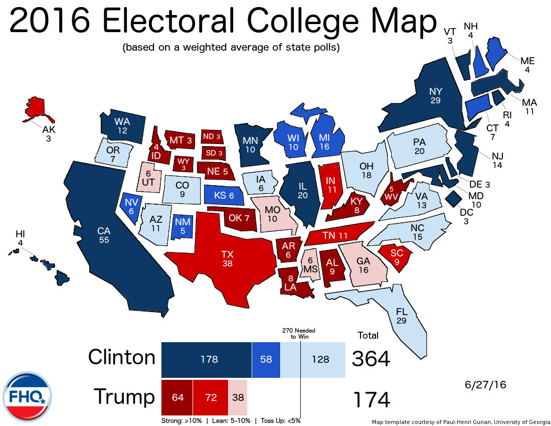 Map Us Election - Us map of electoral votes