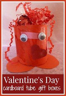 Valentine's Day cardboard tube gift boxes craft