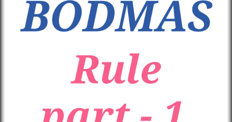 BODMAS rule part-1 - Maths Tricks in Hindi - Learn