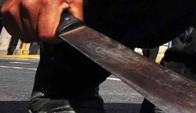 Joven cargaba machete y lo arrestan por actitud sospechosa
