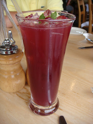 Blueberry lemonade fizz at Simon Pearce, Quechee, Vermont