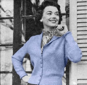 The Vintage Pattern Files: 1950s Free Knitting Pattern - Cardigan Sweater