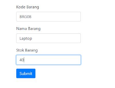 Manambahkan Data Pada Codeigniter