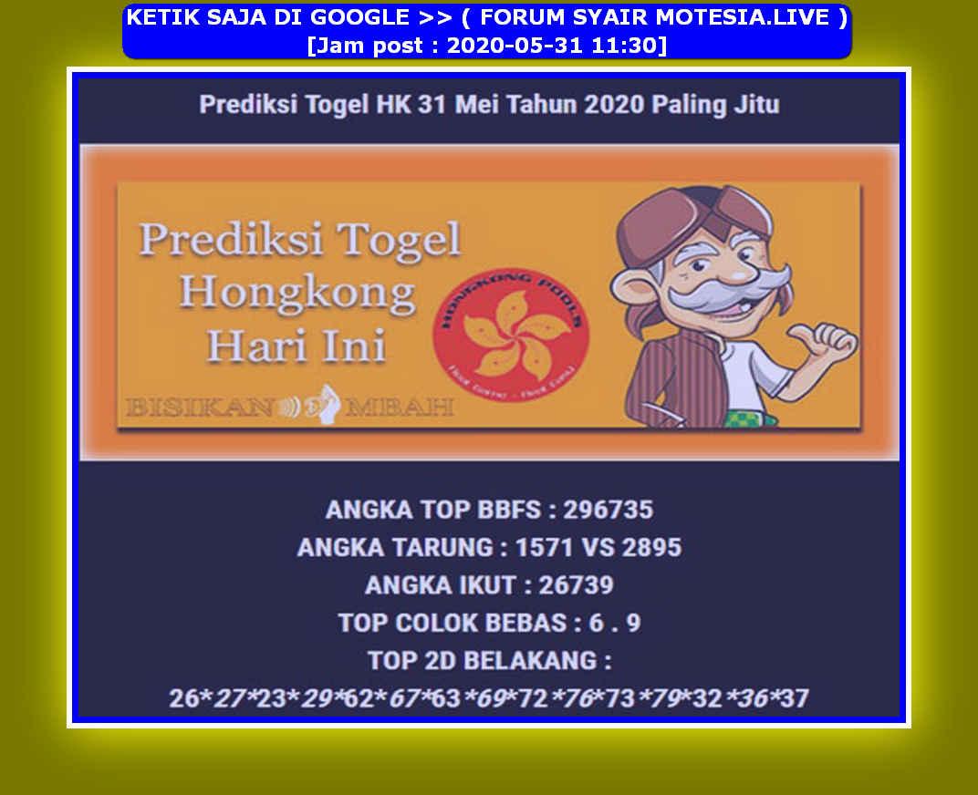 Kode syair Hongkong Minggu 31 Mei 2020 235