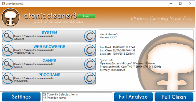 تحميل برنامج تنظيف الكمبيوتر وتسريع النظام atomiccleaner3